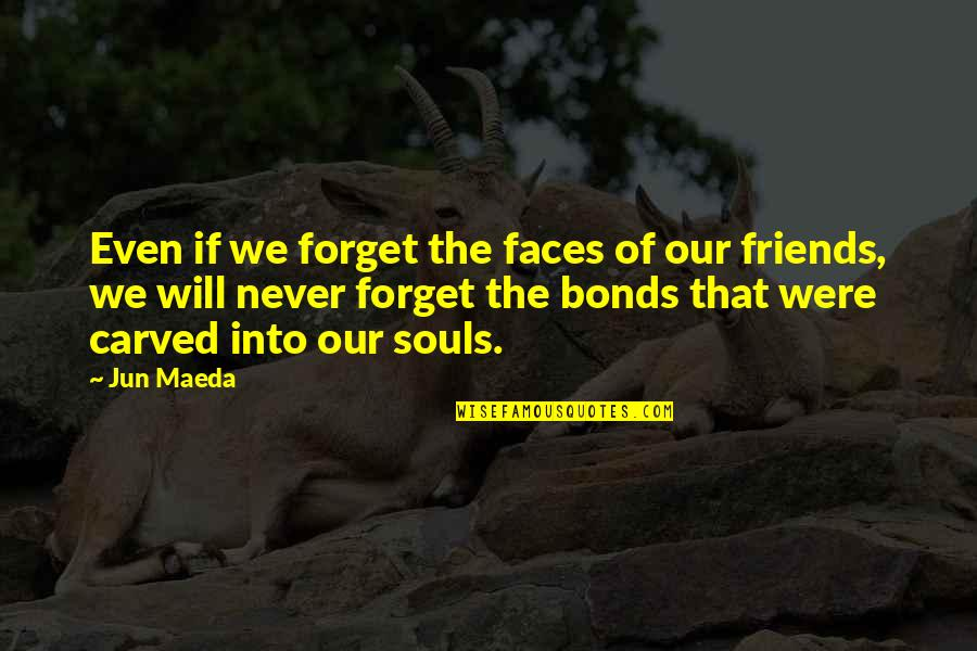 Friends You Will Never Forget Quotes By Jun Maeda: Even if we forget the faces of our