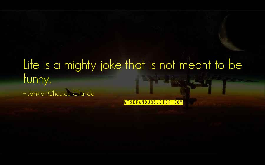 Friendship And Success Quotes By Janvier Chouteu-Chando: Life is a mighty joke that is not