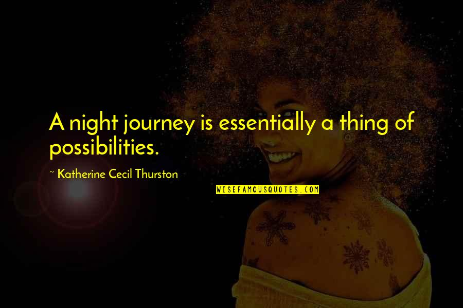 Friendship Clique Quotes By Katherine Cecil Thurston: A night journey is essentially a thing of