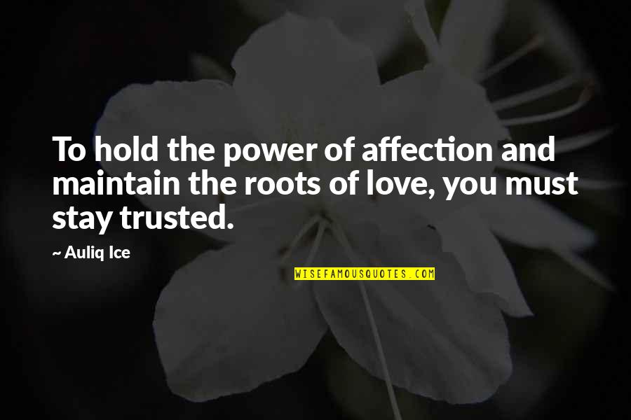 Friendship Love Quotes By Auliq Ice: To hold the power of affection and maintain