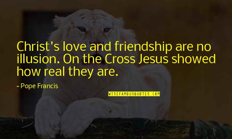 Friendship Love Quotes By Pope Francis: Christ's love and friendship are no illusion. On
