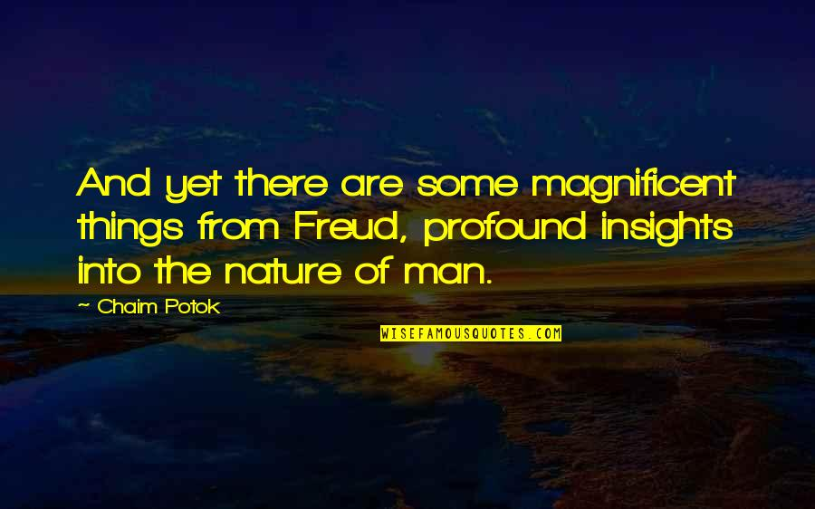 From Nature Quotes By Chaim Potok: And yet there are some magnificent things from