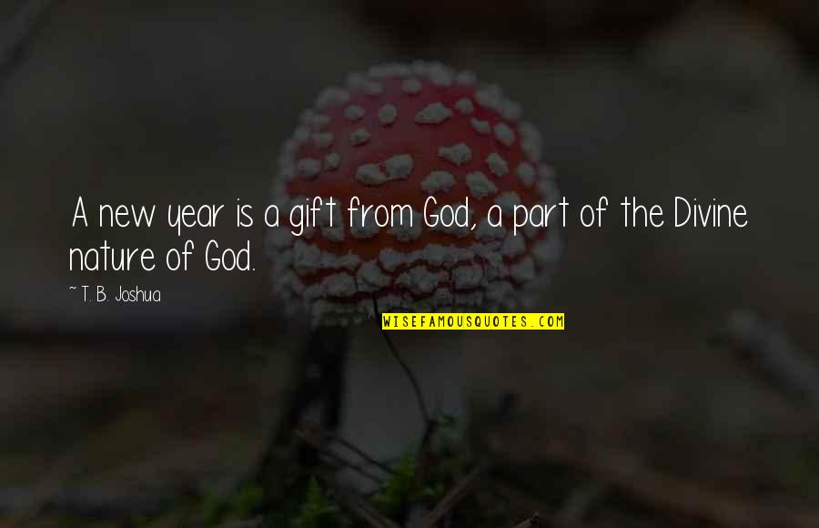 From Nature Quotes By T. B. Joshua: A new year is a gift from God,