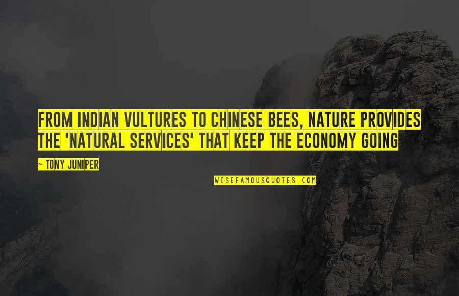 From Nature Quotes By Tony Juniper: From Indian vultures to Chinese bees, Nature provides