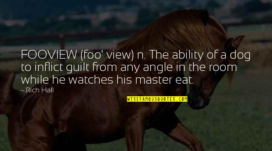 From The Dog Quotes By Rich Hall: FOOVIEW (foo' view) n. The ability of a