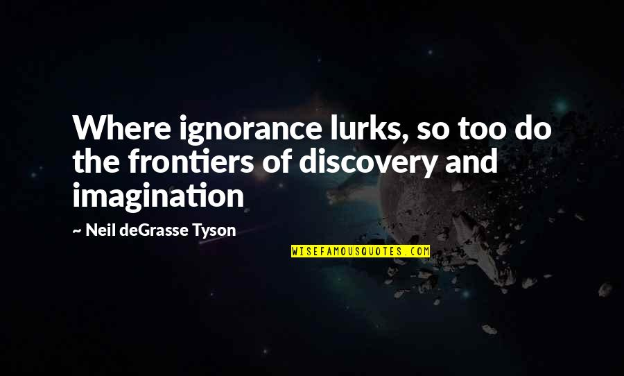 Frontiers Quotes By Neil DeGrasse Tyson: Where ignorance lurks, so too do the frontiers