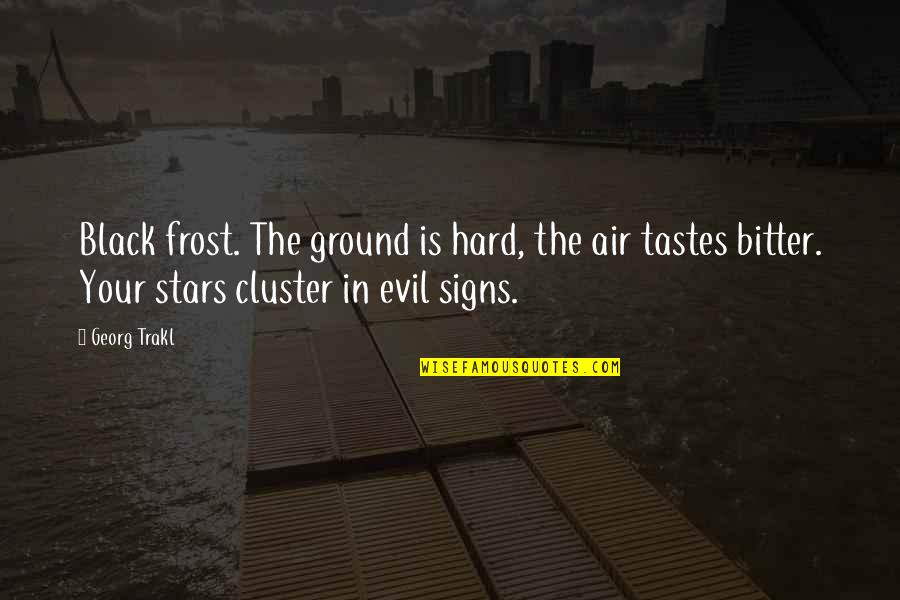 Frost On The Ground Quotes By Georg Trakl: Black frost. The ground is hard, the air
