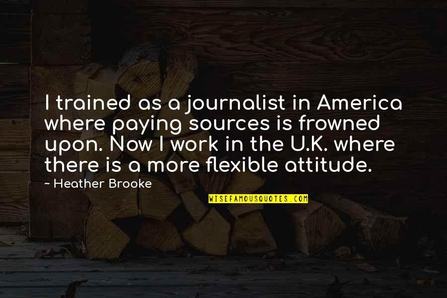 Frowned Quotes By Heather Brooke: I trained as a journalist in America where