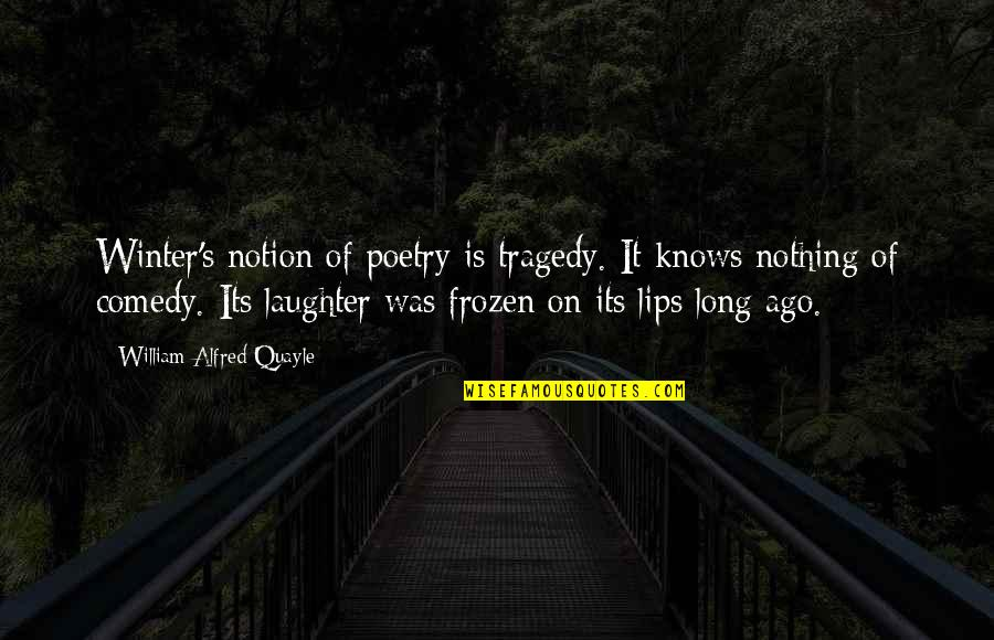 Frozen Winter Quotes By William Alfred Quayle: Winter's notion of poetry is tragedy. It knows
