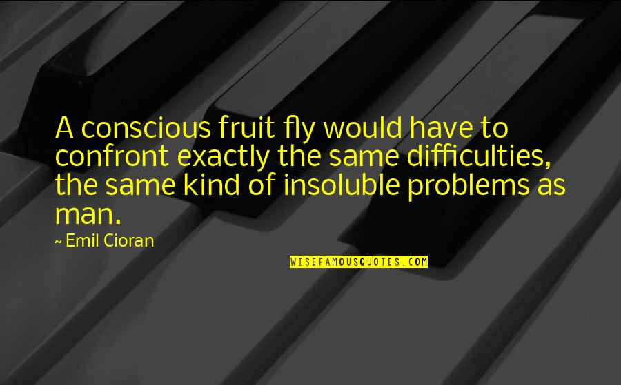 Fruit Fly Quotes By Emil Cioran: A conscious fruit fly would have to confront