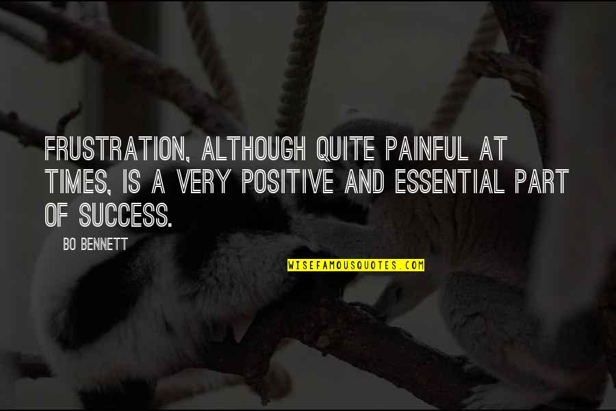 Frustration Quotes By Bo Bennett: Frustration, although quite painful at times, is a