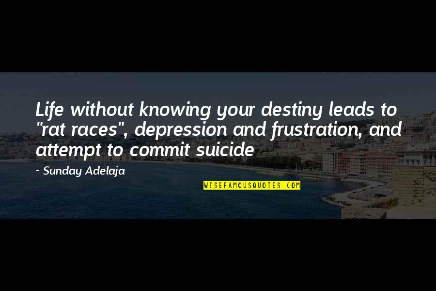 """Frustration Quotes By Sunday Adelaja: Life without knowing your destiny leads to """"rat"""