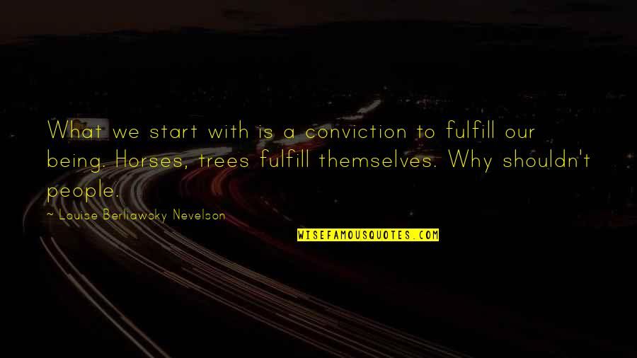 Fulfill'd Quotes By Louise Berliawsky Nevelson: What we start with is a conviction to