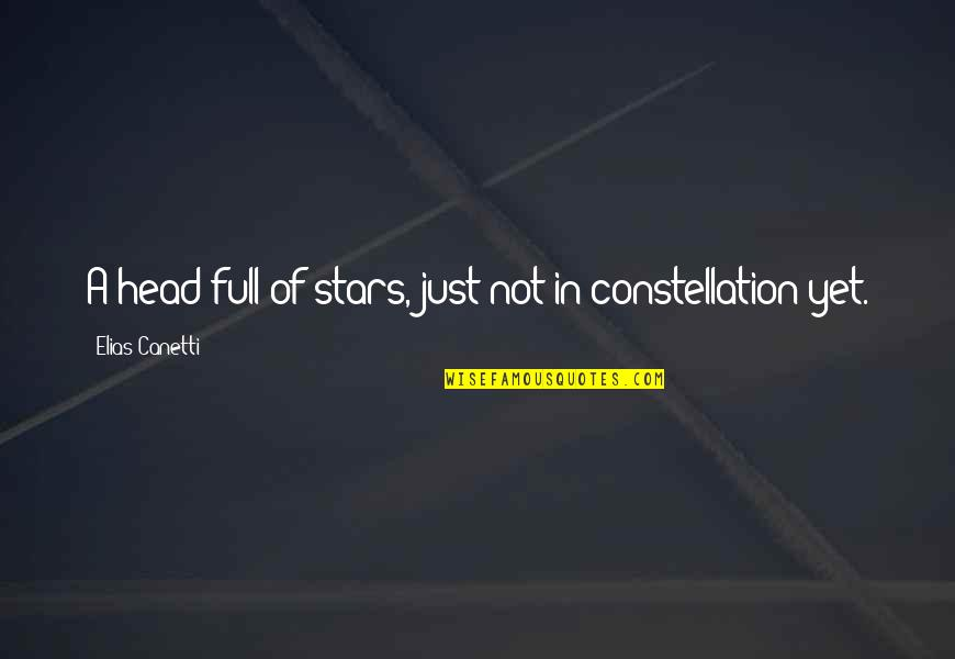 Full In Our Stars Quotes By Elias Canetti: A head full of stars, just not in