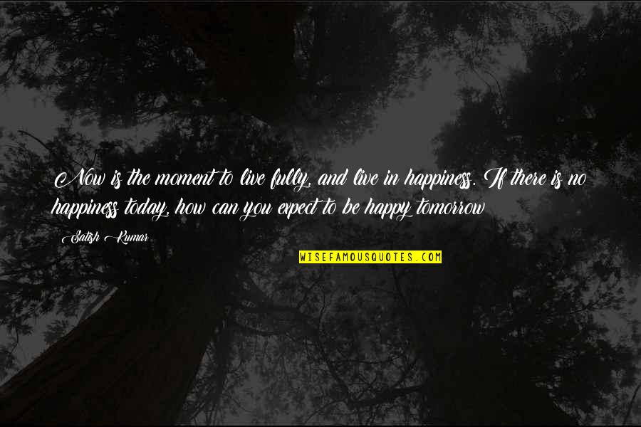 Fully Happy Quotes By Satish Kumar: Now is the moment to live fully, and