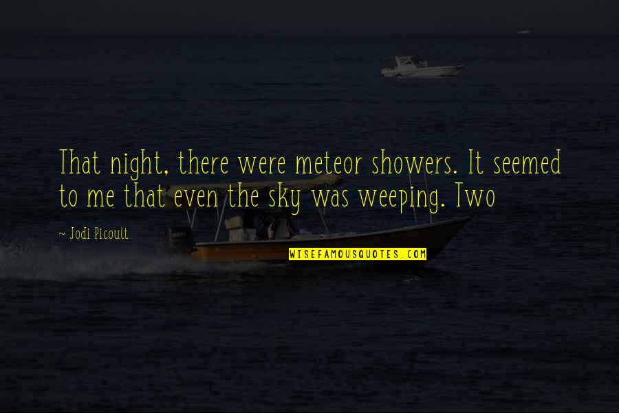 Fulmia Quotes By Jodi Picoult: That night, there were meteor showers. It seemed