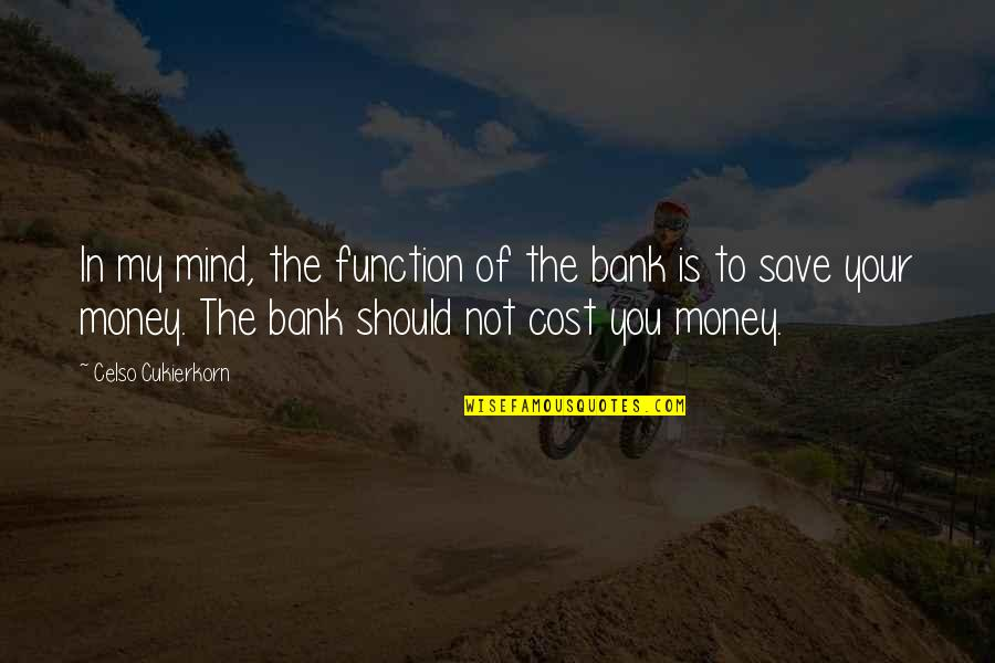 Function Of Quotes By Celso Cukierkorn: In my mind, the function of the bank