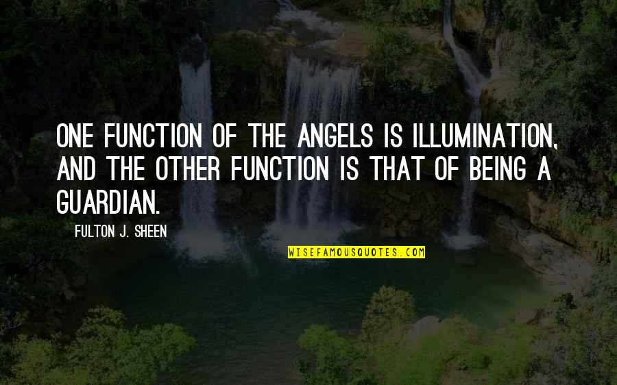 Function Of Quotes By Fulton J. Sheen: One function of the angels is illumination, and