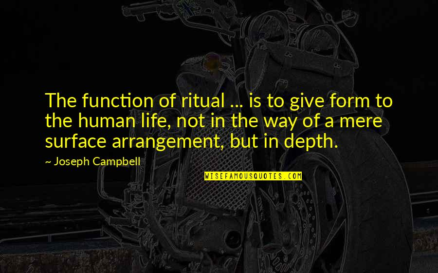 Function Of Quotes By Joseph Campbell: The function of ritual ... is to give