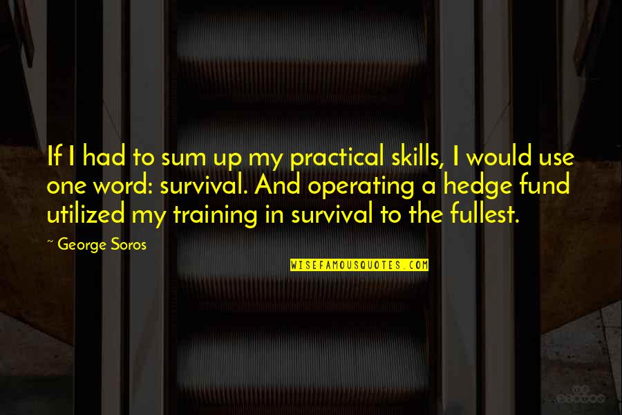 Fund Quotes By George Soros: If I had to sum up my practical