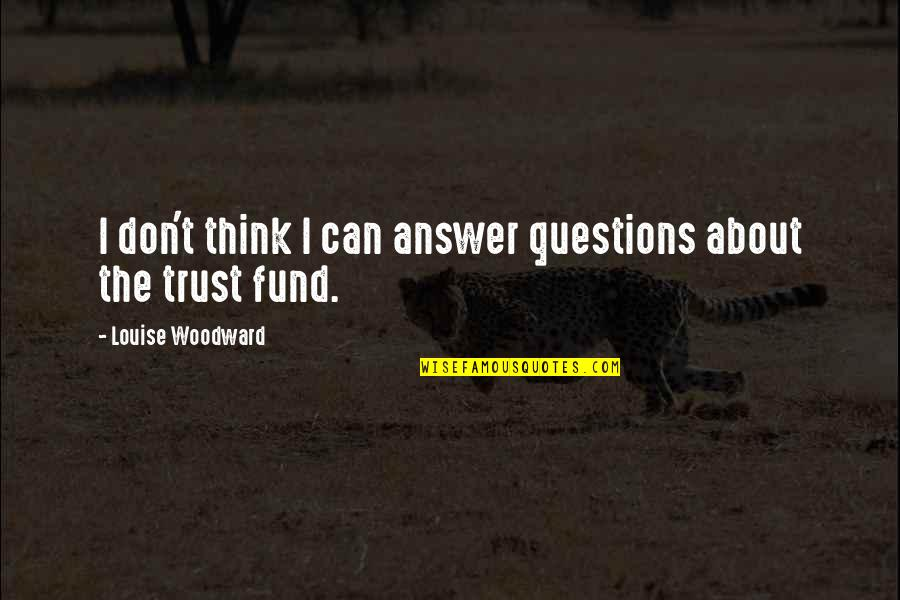 Fund Quotes By Louise Woodward: I don't think I can answer questions about