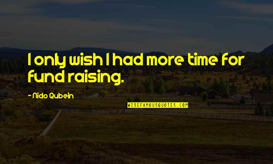 Fund Quotes By Nido Qubein: I only wish I had more time for