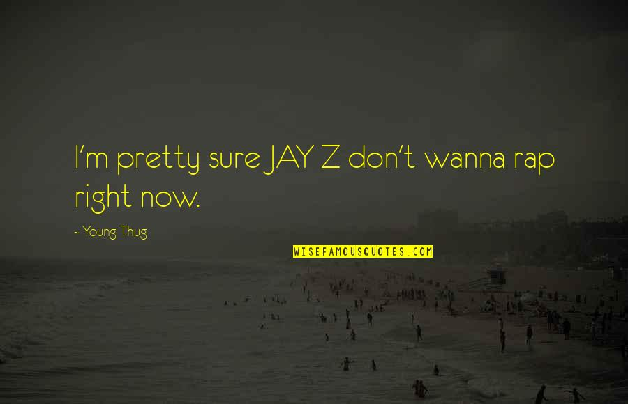 Funniest Flight Attendant Quotes By Young Thug: I'm pretty sure JAY Z don't wanna rap
