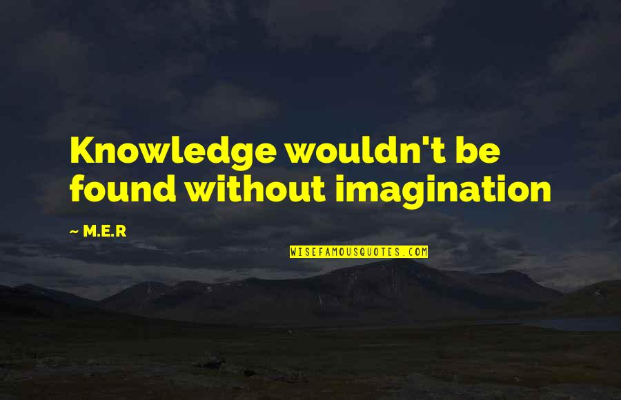 Funny Agile Development Quotes By M.E.R: Knowledge wouldn't be found without imagination