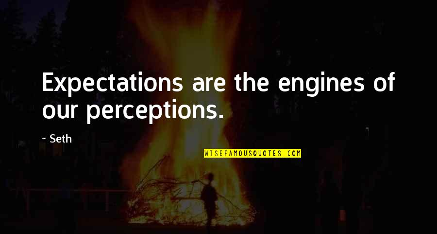 Funny Australian Slang Quotes By Seth: Expectations are the engines of our perceptions.