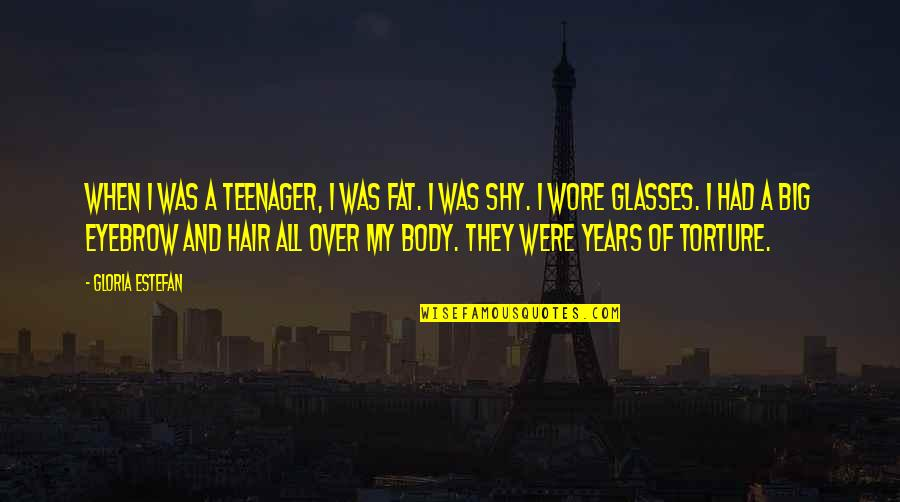 Funny Being Childless Quotes By Gloria Estefan: When I was a teenager, I was fat.