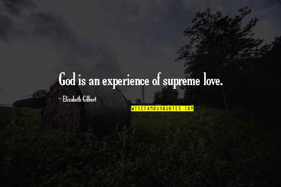 Funny Belated Birthday Wishes Quotes By Elizabeth Gilbert: God is an experience of supreme love.