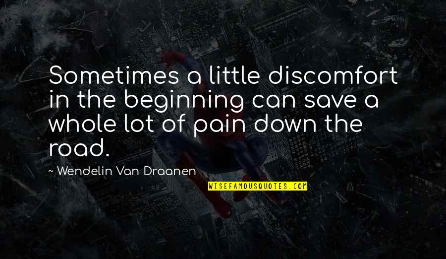 Funny Brock Lesnar Quotes By Wendelin Van Draanen: Sometimes a little discomfort in the beginning can