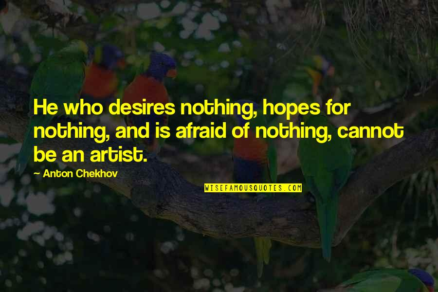 Funny But Sarcastic Quotes By Anton Chekhov: He who desires nothing, hopes for nothing, and