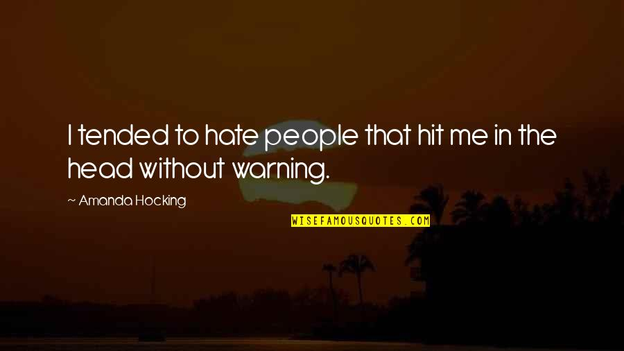 Funny But Wisdom Quotes By Amanda Hocking: I tended to hate people that hit me