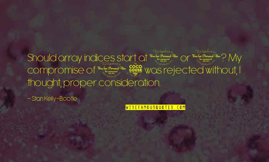 Funny Consideration Quotes By Stan Kelly-Bootle: Should array indices start at