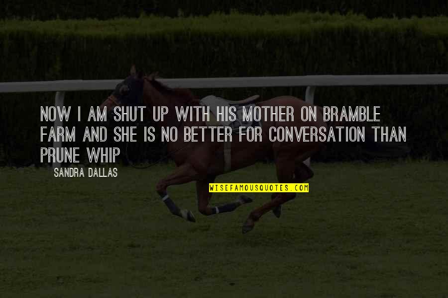 Funny Conversation Quotes By Sandra Dallas: Now I am shut up with his mother