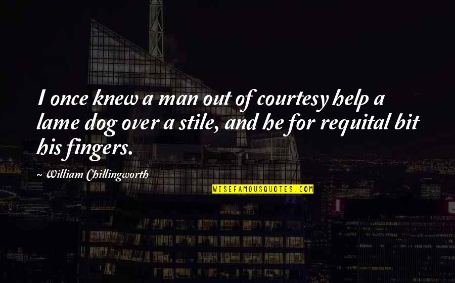 Funny Country Drinking Quotes By William Chillingworth: I once knew a man out of courtesy