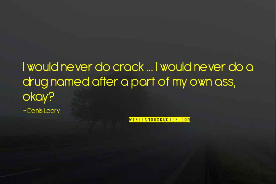 Funny Crack Up Quotes By Denis Leary: I would never do crack ... I would
