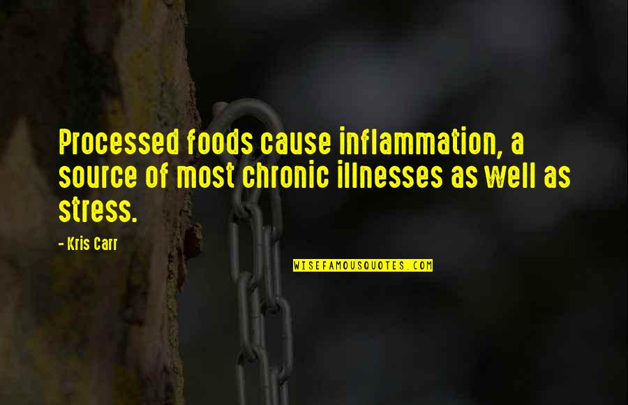 Funny Curling Quotes By Kris Carr: Processed foods cause inflammation, a source of most