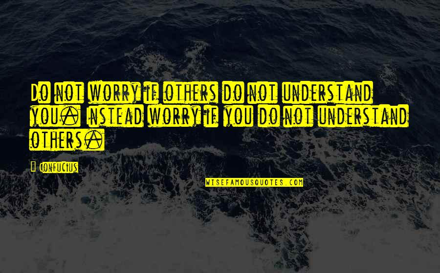 Funny Do Unto Others Quotes By Confucius: Do not worry if others do not understand