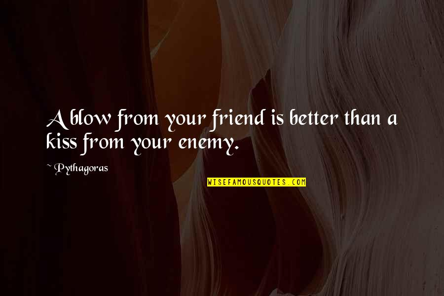 Funny Dora Explorer Quotes By Pythagoras: A blow from your friend is better than