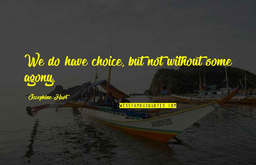Funny Fifth Grade Quotes By Josephine Hart: We do have choice, but not without some