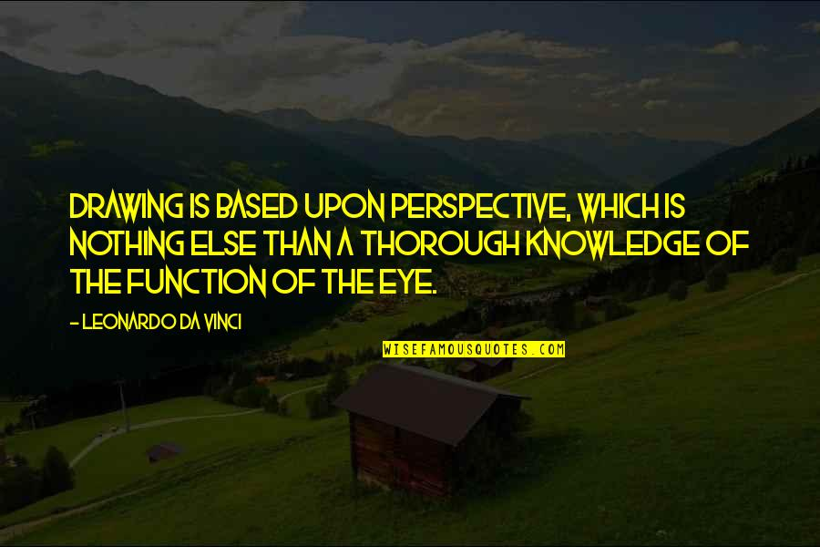 Funny Flexible Quotes By Leonardo Da Vinci: Drawing is based upon perspective, which is nothing