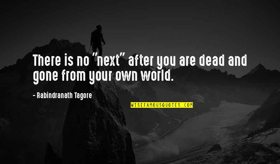 "Funny Hockey Commentator Quotes By Rabindranath Tagore: There is no ""next"" after you are dead"