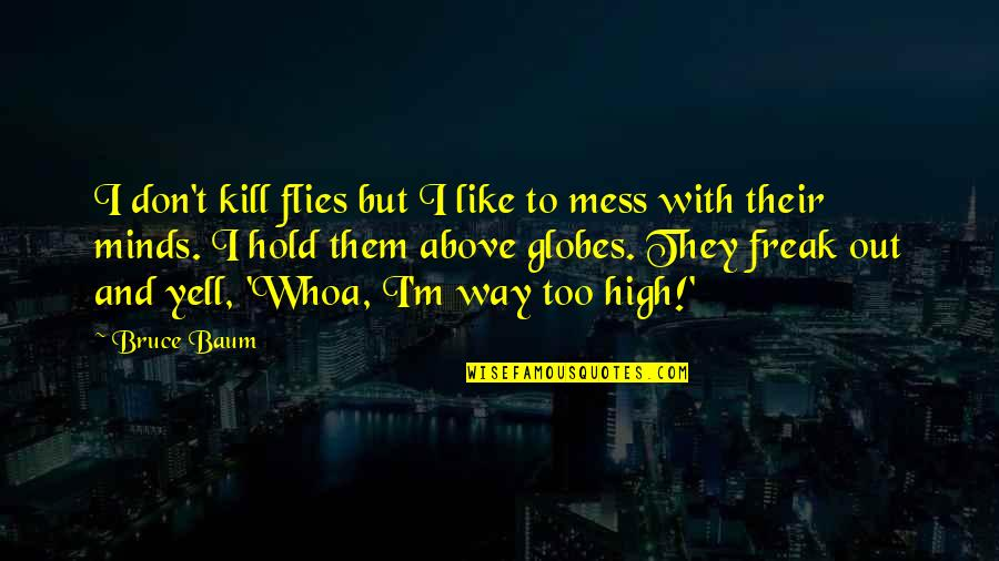 Funny Mess Up Quotes By Bruce Baum: I don't kill flies but I like to