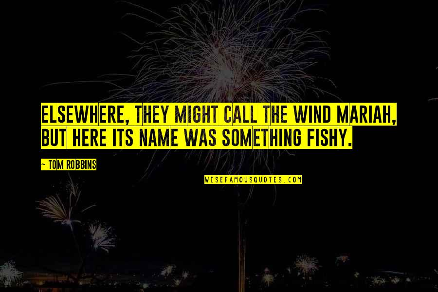Funny Messy Hair Quotes By Tom Robbins: Elsewhere, they might call the wind Mariah, but
