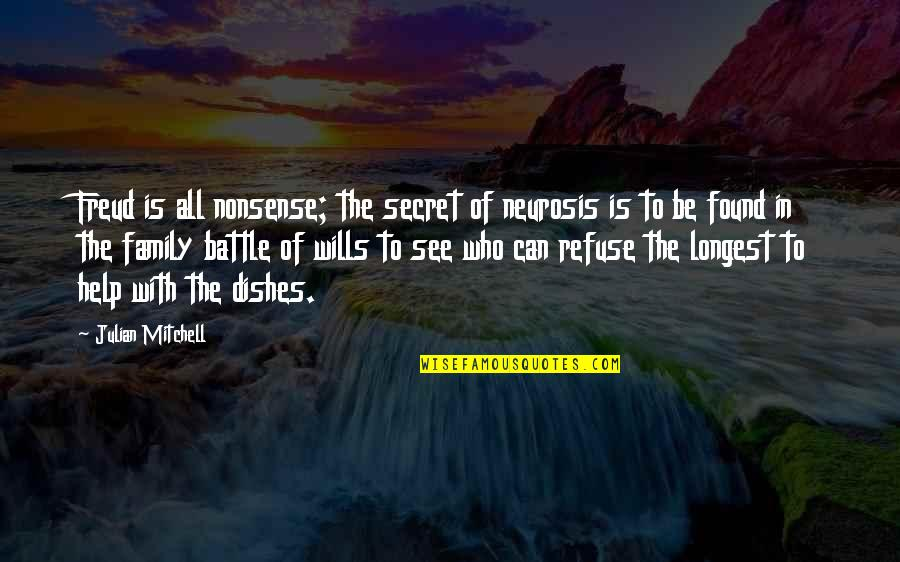 Funny Neurosis Quotes By Julian Mitchell: Freud is all nonsense; the secret of neurosis