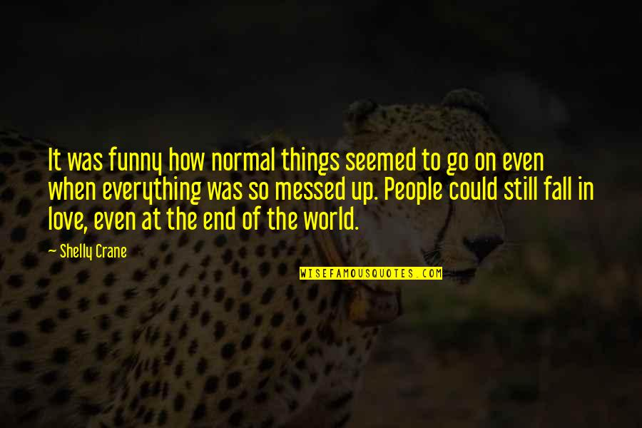 Funny Not Normal Quotes By Shelly Crane: It was funny how normal things seemed to