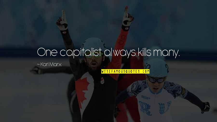 Funny Pam Quotes By Karl Marx: One capitalist always kills many.