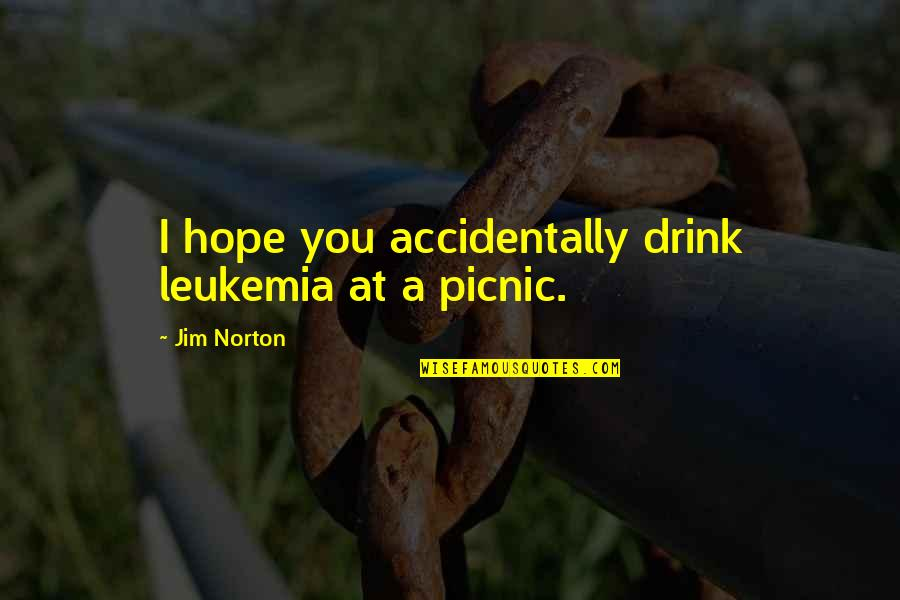 Funny Picnics Quotes By Jim Norton: I hope you accidentally drink leukemia at a